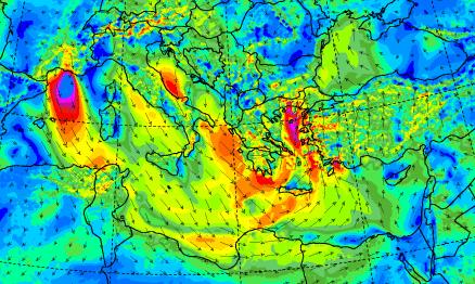 времето и вятъра в Европа